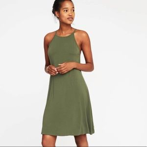 Old Navy High Neck Ribbed Swing Dress